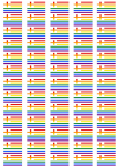 Greece Gay Pride Flag Stickers - 65 per sheet